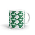 Dark Green Sexy Lip Shamrock St Patrick's Day Printed Mug