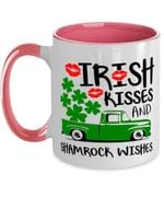 Green Truck Shamrock Wishes Clover St Patrick's Day Printed Accent Mug