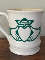 Celtic Design My Heart Shamrock St Patrick's Day Printed Mug