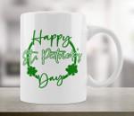 Shamrock Circle Happy St. Patrick's Day Printed Mug