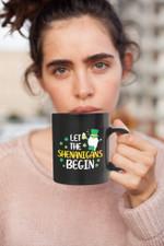 Let The Shenanigans Begin Clover St Patrick's Day Printed Accent Mug