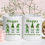 Lucky Three Gnomies Shamrock St. Patrick's Day Printed Mug