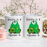Lucky And I Gnome Shamrock St Patrick's Day Printed Mug