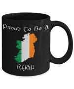 Ryan Irish Flag St Patrick's Day Printed Mug