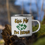Kiss Me I'm Irish Clover St Patrick's Day Printed Mug