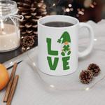 Lovely Gnome Love Shamrock St Patrick's Day Printed Mug