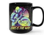 Star Wars The Mandalorian Baby Yoda Neon Printed Mug