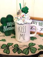 Kiss Me Green Shamrock St Patrick's Day Printed Mug