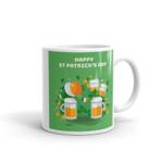 Party Time Shamrock St Patrick's Day Printed Mug