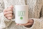 Lucky Four Leaf Clover St Patrick's Day Printed Mug
