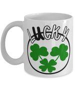 Lucky Charm Clover St Patrick's Day Printed Mug