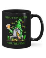 Shut Up Liver Shamrock St Patrick's Day Printed Mug