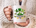 Lucky Gnomies Clover St Patrick's Day Printed Mug