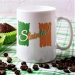 Slainte Tricolor Flag Shamrock St Patrick's Day Printed Mug