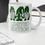 Limited Edition Gnomies Shamrock St Patrick's Day Printed Mug
