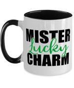 Mister Lucky Charm Clover St Patrick's Day Printed Accent Mug