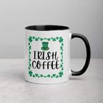Irish Coffee Clover St Patrick's Day Printed Accent Mug