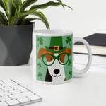 Cute Dog Leprechaun Shamrock St Patrick's Day Printed Mug