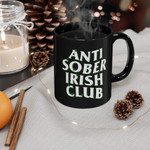 Anti Sober Irish Club Clover St Patrick's Day Printed Mug