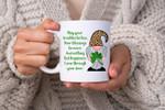Cute Irish Gnome Blessing Quote Shamrock St Patrick's Day Printed Mug