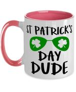 Sunglasses Day Dude Clover St Patrick's Day Printed Accent Mug