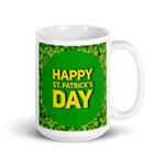 Shamrock Border St Patrick's Day Printed Mug