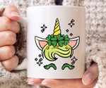 Happy Unicorn Shamrock St Patrick's Day Printed Mug