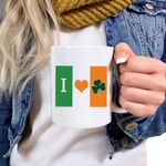 Irish Flag Shamrock St Patrick's Day Printed Mug