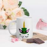 Unicorn With Sharp Horn Shamrock St Patrick's Day Printed Mug