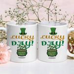 Lucky Day Pot Of Gold Shamrock St Patrick's Day Printed Mug