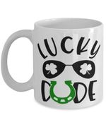 Lucky Dude Sunglasses Shamrock St Patrick's Day Printed Mug