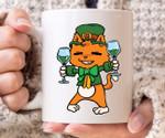 Cat Leprechaun With Beer Shamrock St Patrick's Day Printed Mug