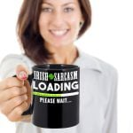 Irish Sarcasm Loading Please Wait Clover St Patrick's Day Printed Mug