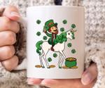 Unicorn Leprechaun Clover St Patrick's Day Printed Mug