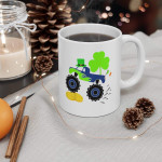 Kids Saint Patricks Day Gift For Monster Truck Printed Mug