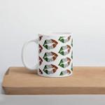 Green And Maroon Lip Clover St Patrick's Day Printed Mug