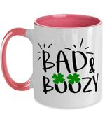 St Patrick's Day Bad And Amp Boozy Printed Accent Mug