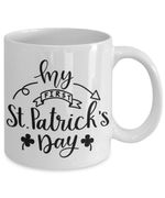 Black And White My First St Patrick's Day Printed Mug