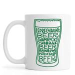 Leprechauns Beer Shamrock Cabbage St Patrick's Day Printed Mug