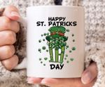 Cup For Lucky Popcorn Eater Lover Shamrock St Patrick's Day Printed Mug