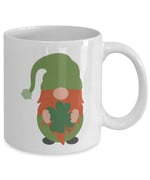Lucky Gnome Holding Shamrock St Patrick's Day Printed Mug