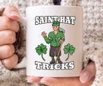 Saint Hat Tricks Green Shamrock St Patrick's Day Printed Mug