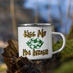 Kiss Me I'm Irish Shamrock St Patrick's Day Printed Mug