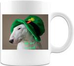 Kiss Me I'm Irish Dog Shamrock St Patrick's Day Printed Mug