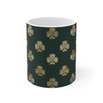 Brown Shamrock Design St Patrick's Day Printed Mug