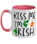 Tricolor Lip Kiss Me Clover St Patrick's Day Printed Accent Mug
