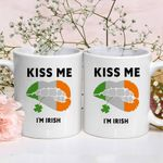 Kiss Me I'm Irish St Patrick's Day Printed Mug