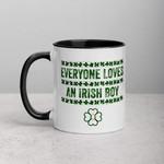 Everyone Loves An Irish Boy Shamrock St Patrick's Day Printed Accent Mug