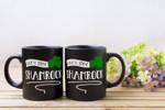 Let's Get Shamrock White Letter Clover St. Patrick's Day Printed Mug
