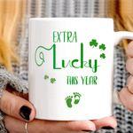 Extra Lucky This Year Green Footprint St Patrick's Day Printed Mug